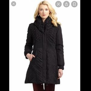 Elie Tahari Black Maddie Coat